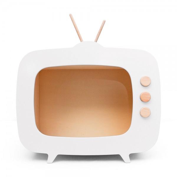 AHŞAP RETRO TV / BEYAZ