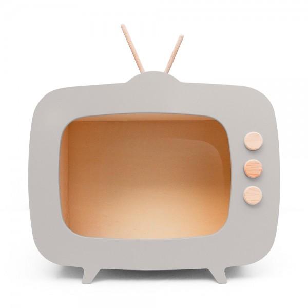 AHŞAP RETRO TV / GRİ