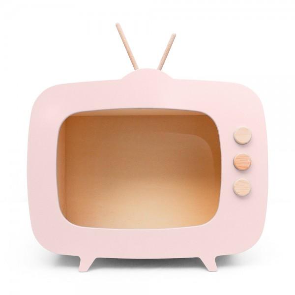 AHŞAP RETRO TV / PEMBE